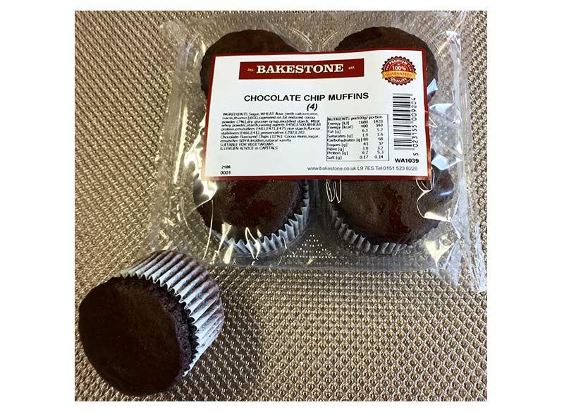 Chocolate Chip Muffins x 4