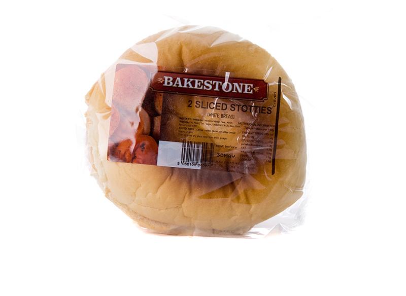 Large White Sliced Barmcake x 2