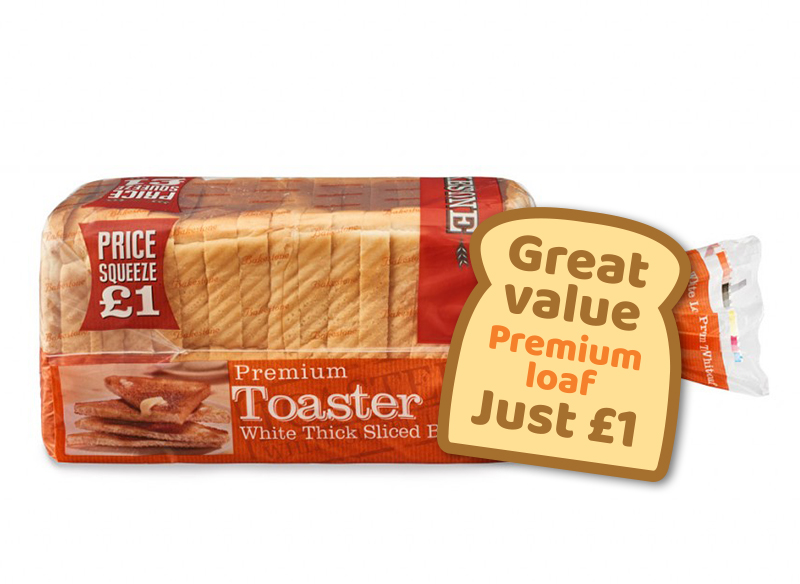 Premium Toaster White Thick Sliced Bread