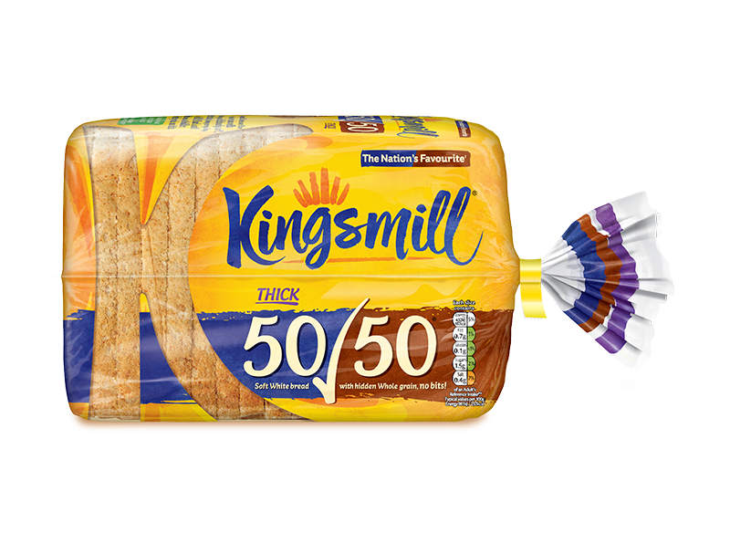 Kingsmill 50/50 Thick 800g