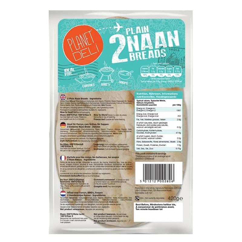 Plain Naan Breads x 2