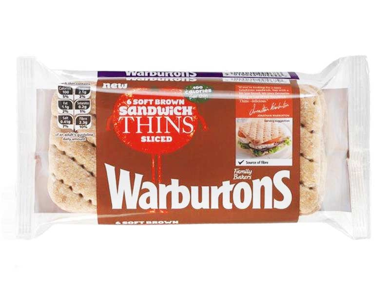 Soft Brown Sandwich Thins x 6