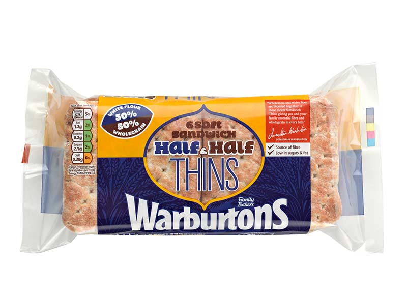 Soft Half & Half Sandwich Thins x 6