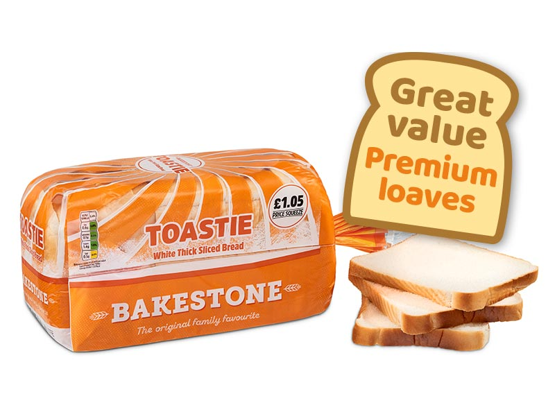 Premium Toastie White Thick Sliced Bread