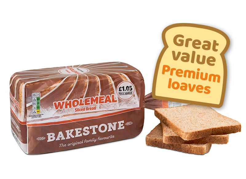 Bakestone Wholemeal Sliced Bread