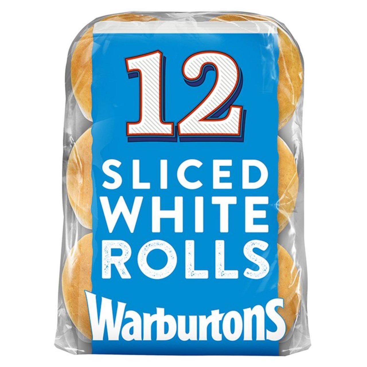 Sliced White Rolls x 12